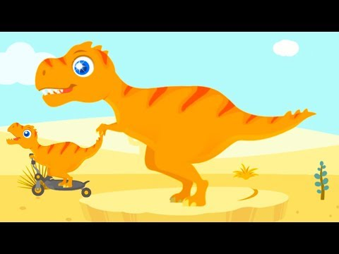 Jurassic Dig - Baby Find Dinosaur Bones With Cute Vehicles - Fun Dinosaur Games For Kids By Yateland