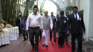 Governor of Karnataka's Arrival at Ahmadiyya Muslim Community Bangalore Peace Symposium 2017