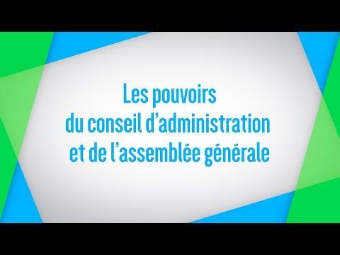 Les pouvoirs du conseil d'administration et de l'assemblée générale