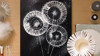 S Paper Cup Dandelion Q Tip Painting Technique / Simple Creative Art