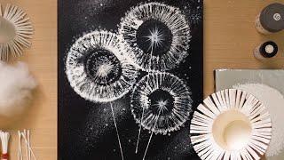 S Paper Cup Dandelion Q Tip Painting Technique / Simple Creative Art