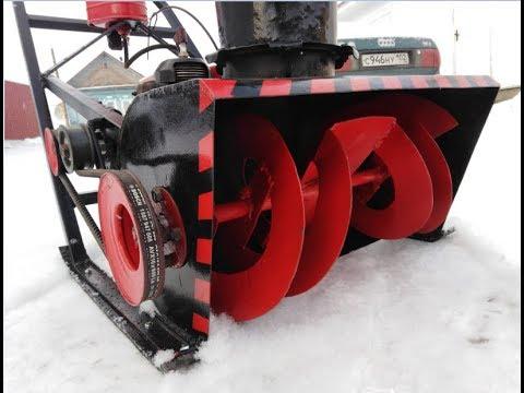 Снегоуборочная машина из бензопилы своими руками