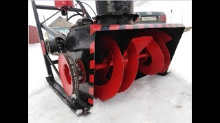 как бензопилы сделать снегоуборщик