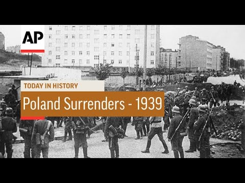 WWII: Poland Surrenders - 1939 | Today in History | 27 Sept 16