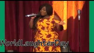 Lolo1 uses 15yards to sew a Gown Lagos  50 WorldLaughterDay