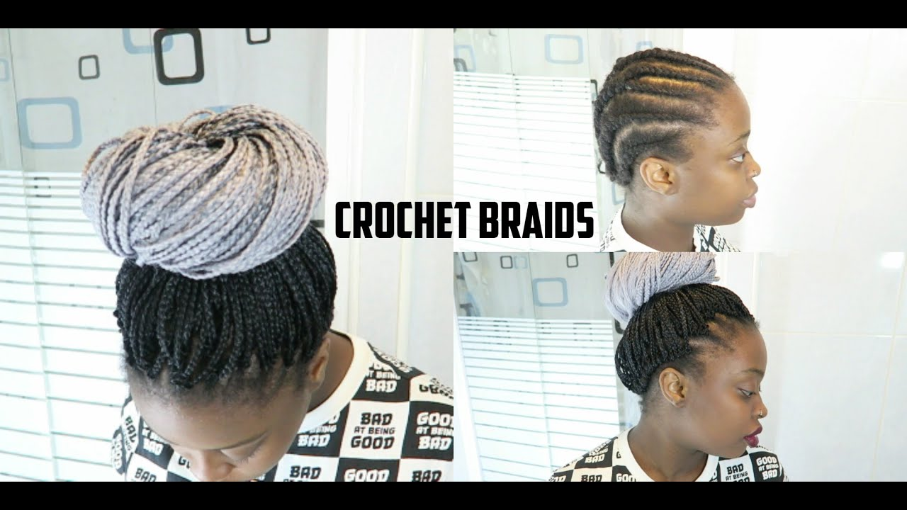HOW TO INSTALL CROCHET BRAIDS GREY OMBRE PRE BOX BRAIDS ...