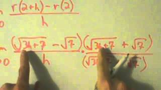 calculus i derivative at a point square root example 2