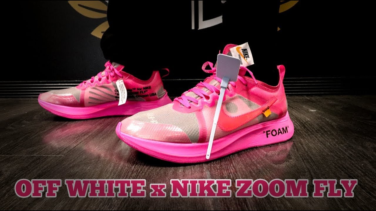 7f4a8736501b OFF-WHITE x NIKE ZOOM FLY + ON FOOT - YouTube