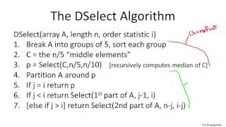 8   3   Deterministic Selection   Algorithm Advanced   Optional 17 min
