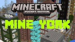 NEW YORK IN MINECRAFT POCKET EDITION | (First Video)