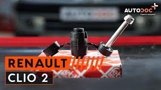 Wie RENAULT CLIO 2 Koppelstange / Pendelstütze vorne wechseln TUTORIAL | AUTODOC