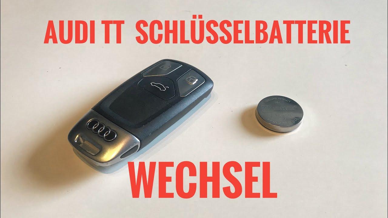 Audi Tt Fv 2016 Sq5 A3 A4 Schlusselbatterie Wechseln Anleitung Youtube