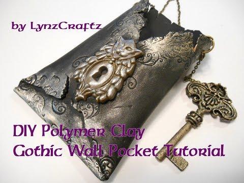 DIY Polymer Clay Gothic Wall Pocket Tutorial
