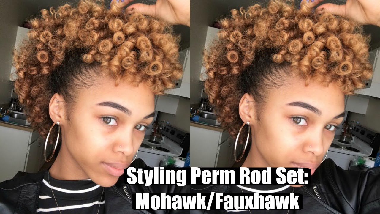 Styling a Perm Rod Set | Faux Hawk or Mohawk Tutorial