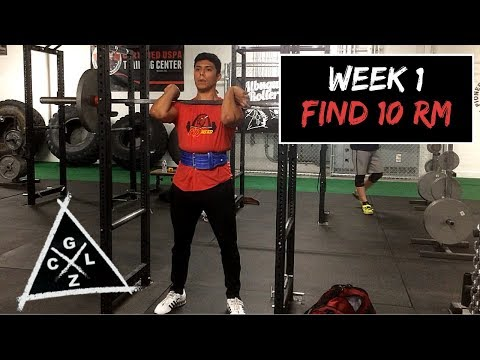 GZCL Jacked and Tan Week 1 - Testing my 10 RM