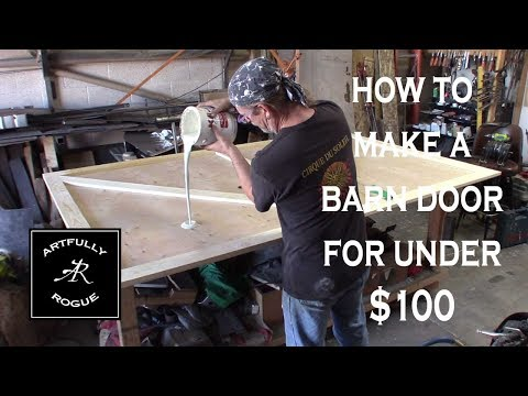 how to build a wooden barn door for under $100