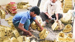 Фото  RON BOX Making  Ndustry Brass  Ron Box Making Skills Metal Casting Process Brass Items Work