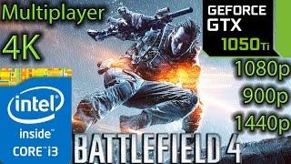 Battlefield 4 Multiplayer: GTX 1050 ti - i3 6100 - 1080p - 900p - 1440p - 4K