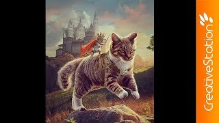Cat and Mouse - Speed art (#Photoshop) | CreativeStation