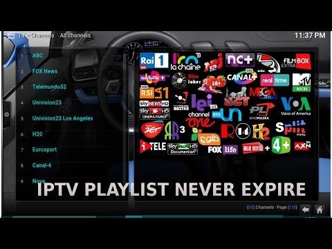 New IPTV Playlist for Kodi,SmartTV,IPTV App and FireTVstick never expire