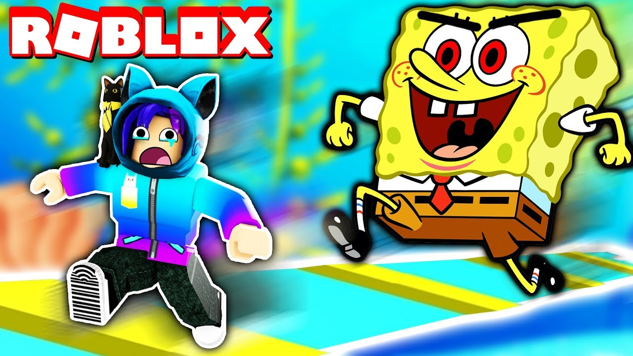 Escape From The Evil Spongebob Obby In Roblox Youtube