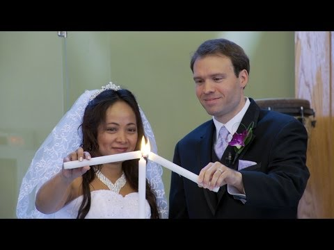 Light The Unity Candle | A Wedding Ceremony At Richmond Hill Christian Community Church In Toronto