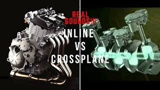 REAL SOUNDS 4 CYL INLINE ENGINE VS CROSSPLANE