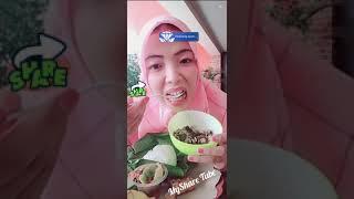 Jilbab Pink Cantik Live Review Makanan