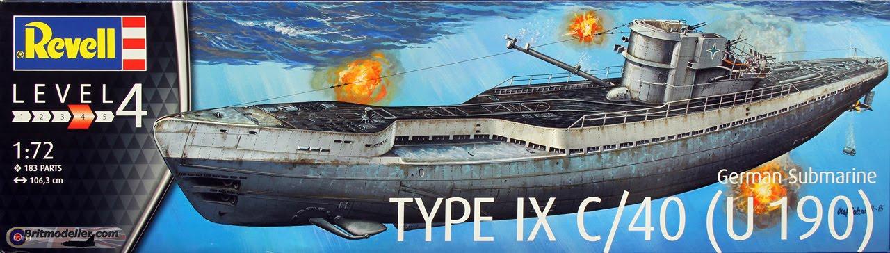 revell 1 72 type ix u boat kit review youtube