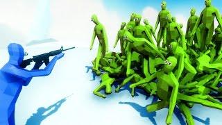 TABS - ZOMBIE HORDE ATTACKS SURVIVOR!!   Totally Accurate Battle Simulator (TABS NEON)
