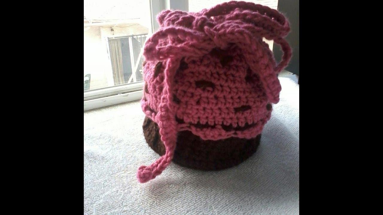 Tutorial How To Crochet A Cupcake Handbag Part 1 Youtube