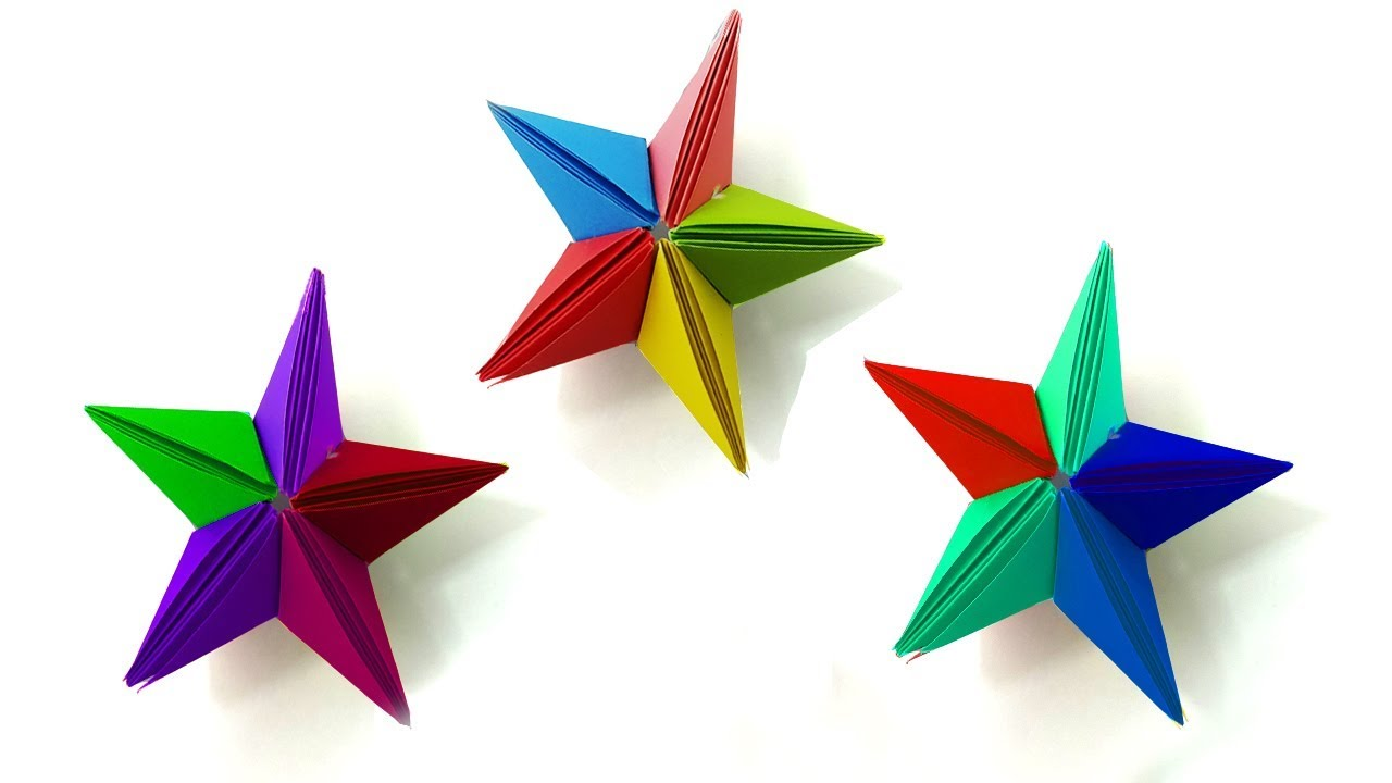 Origami Star Clear Instructions