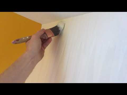 HOW TO PAINT TEXTURED VINYL WALLPAPER