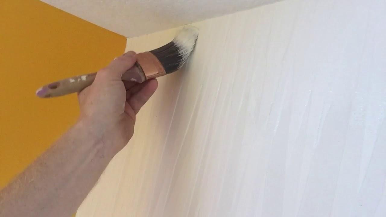 how to paint textured vinyl wallpaper spencer colgan youtube. Black Bedroom Furniture Sets. Home Design Ideas
