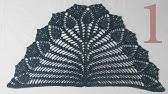 5d3489cf6bce4 كروشيه كيف اصنع شال سكارف نسائي مثلث خطوة بخطوة crochet how to make ...