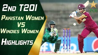 2nd T20I | Pakistan Women vs Windies Women at Karachi | Highlights | Super Over | PCB