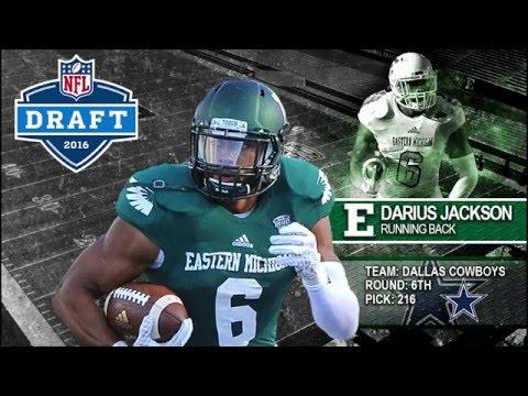 Cheap NFL Jerseys Sale - Darius Jackson - Eastern Michigan Football - TB - 2015 Old ...