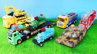 Toys Military Vehicles    Tank   Missile launcher   Excavator  Dump Truck  Trailer Truck  