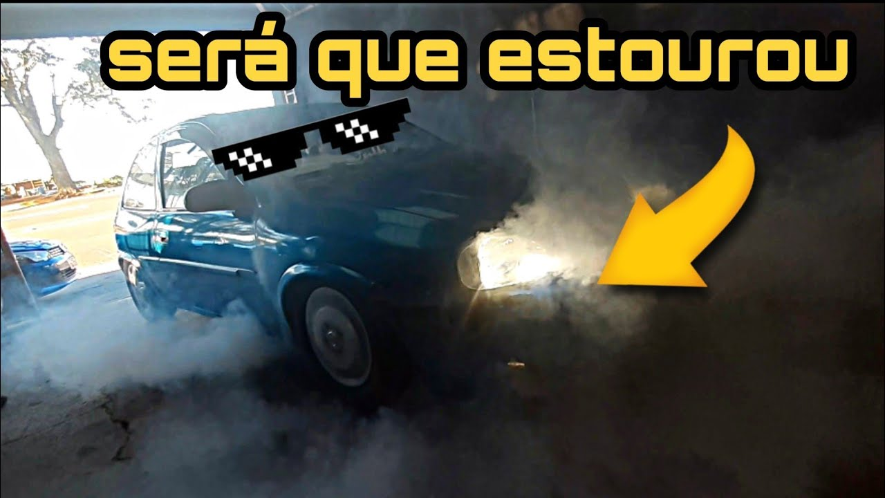 Estorando os pneus do corsa no burnout |《Canal do Romão》