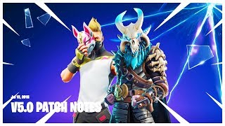 NOTES DE PATCH DE LA SAISON 5! D'ÉNORMES CHANGEMENTS! 'NEW' SKINS ' BATTLE PASS 'bientôt' Fortnite Battle Royale!