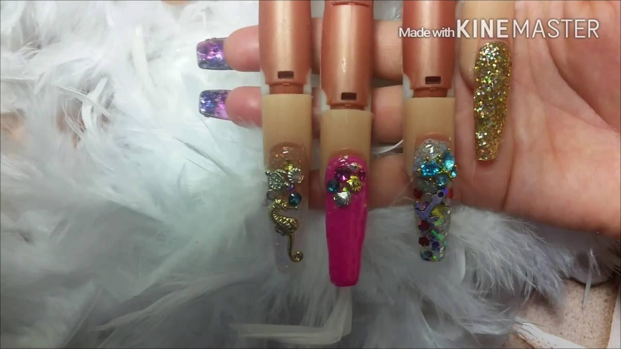 Efecto sirena .Diseño de uñas Mermaid - YouTube