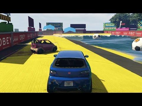 RUBEN RIJD IN 'DE' WATER! (GTA V Online Funny Races)