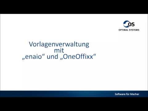 ENAIO DMS integriert mit OneOffixx Vorlagenlösung