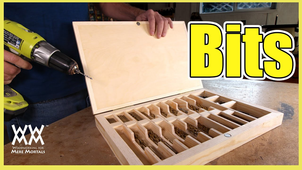 Custom Drill Bit Storage Under Cabinet Storage Great