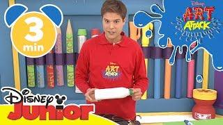 Art Attack Bastelclip #12 - Das Monsterinsekt | Disney Junior