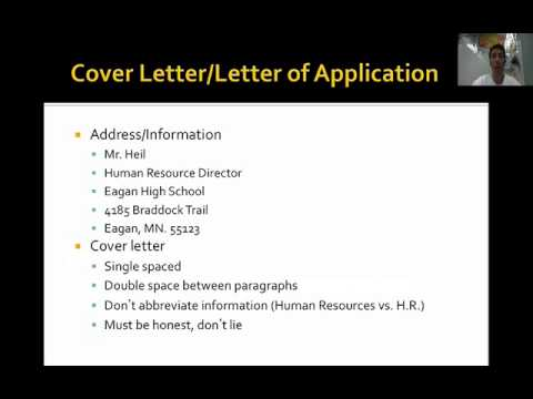 Cover Letter Assignment - YouTube