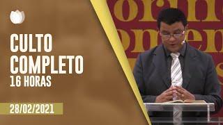 Culto Vespertino 16H | Rev. Alberto de Lima | Igreja Presbiteriana de Pinheiros | IPP TV