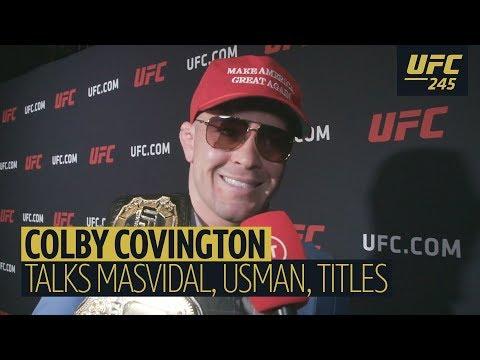 """He is a loser!"" Colby Covington roasts Masvidal, mocks BMF belt, praises Trump, laughs off Usman"