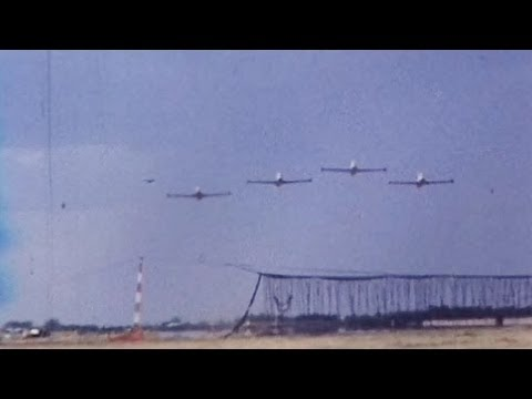 RAAF Roulettes with Macchi jets on Australia Day 1981