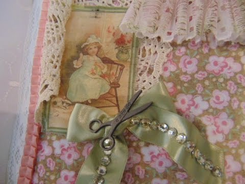 """Lace Sewing Album... Second Page """"INSERT"""" Tutorial"""